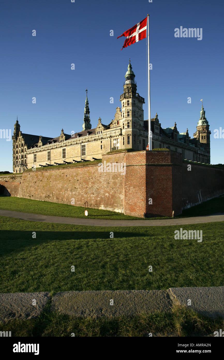 Kronborg Castle, Helsingør, Denmark - Stock Image