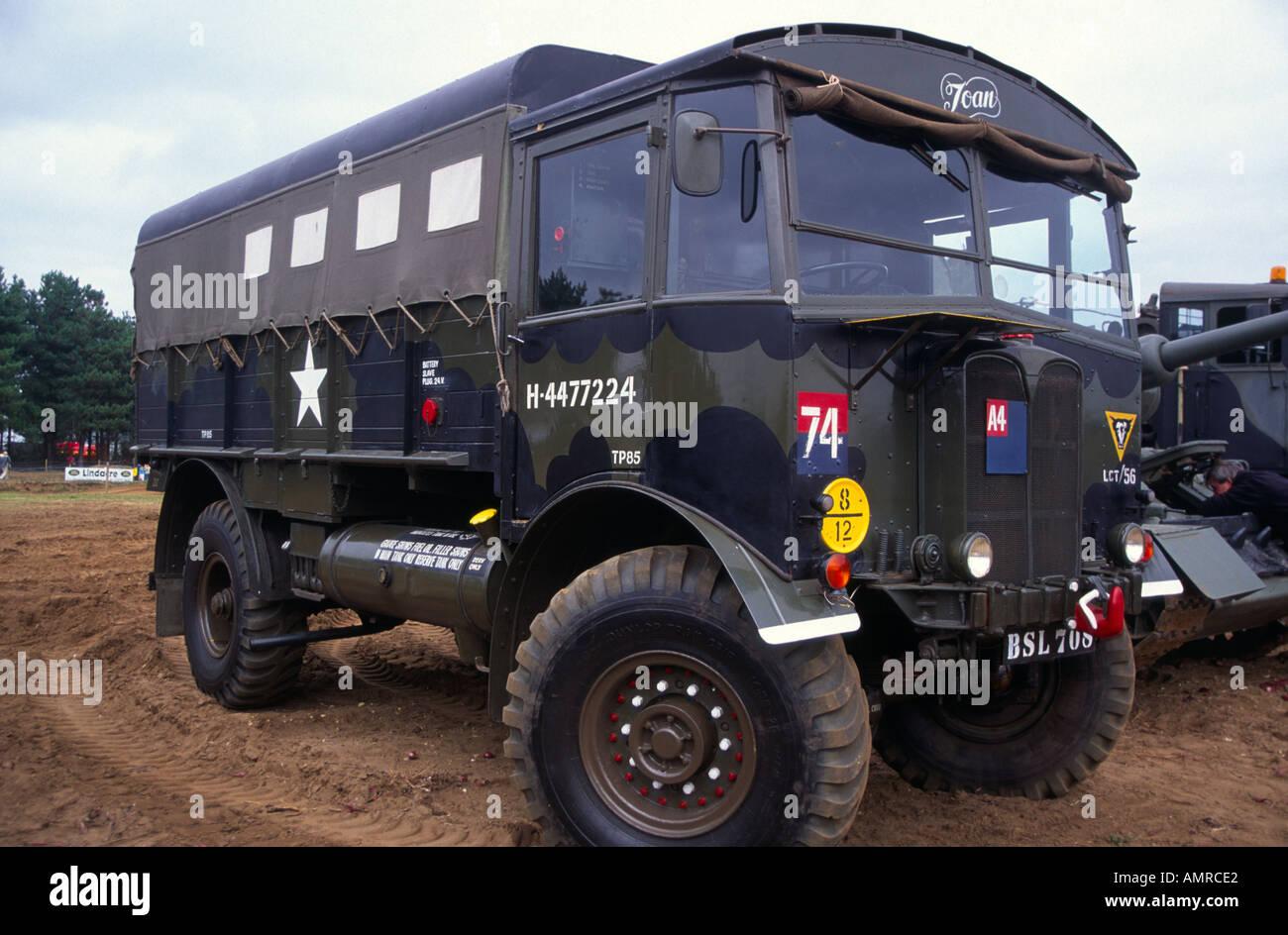 Old USA military transport vehicle - Stock Image