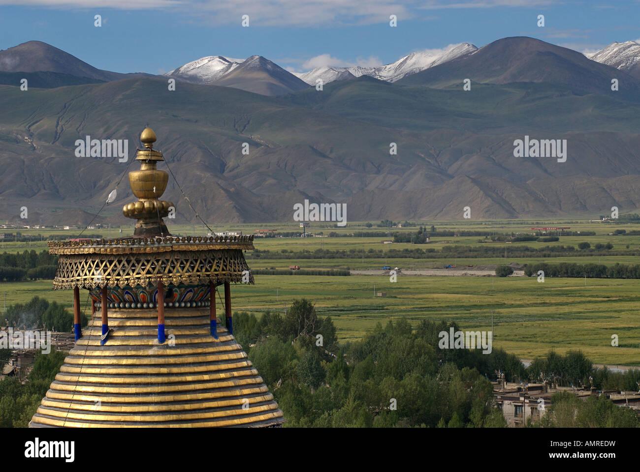 Kumbum Pelkor Chöde monastery Gyantse Tibet - Stock Image