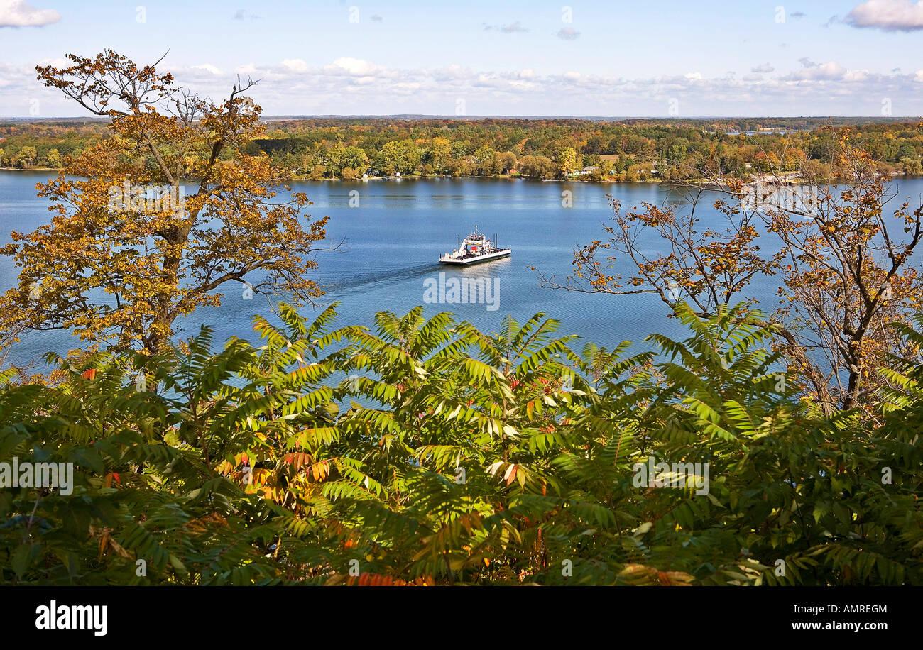 Glenora Ferry Prince Edward County Picton Belleville Ontario Canada - Stock Image
