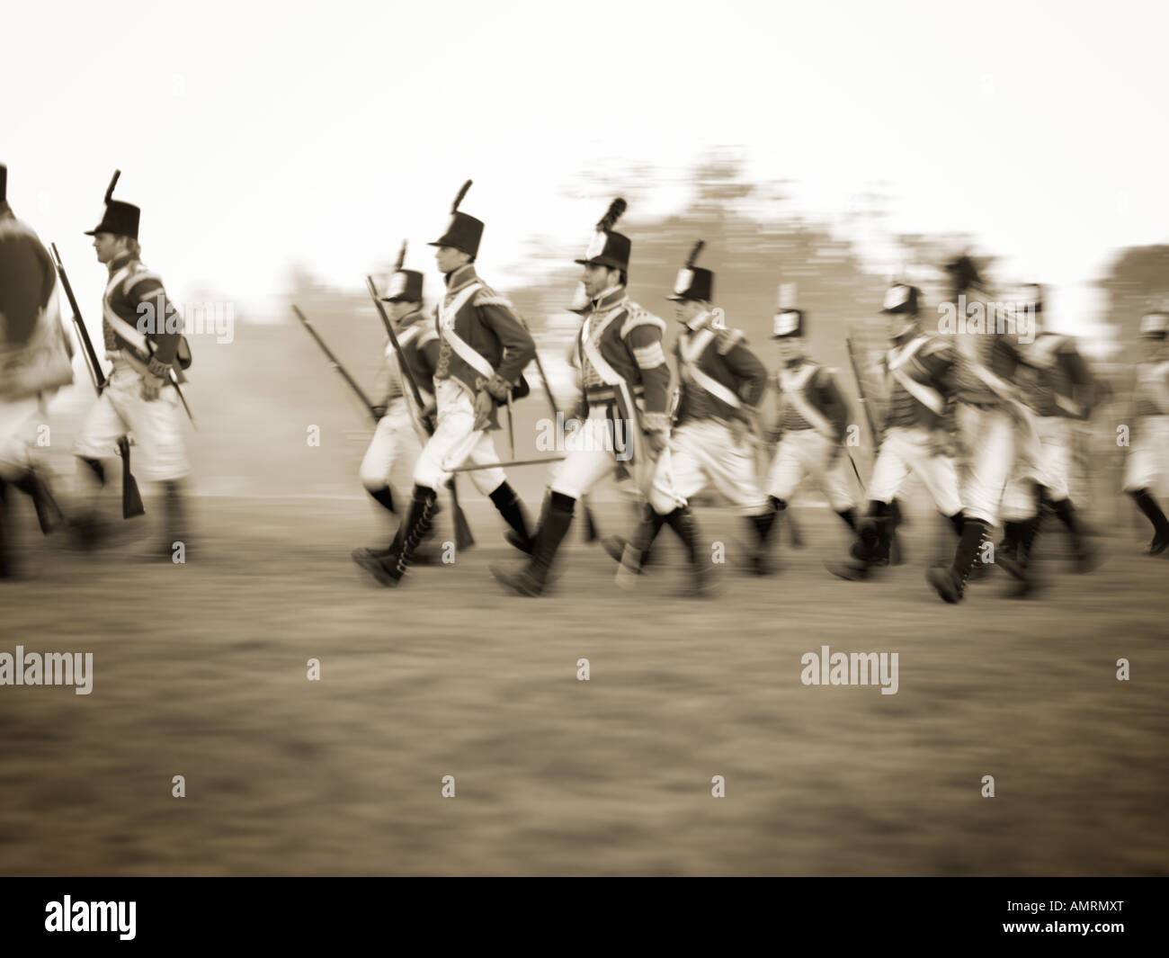 Canada Ontario Fort Erie Old Fort Erie reenactment of War of 1812 - Stock Image