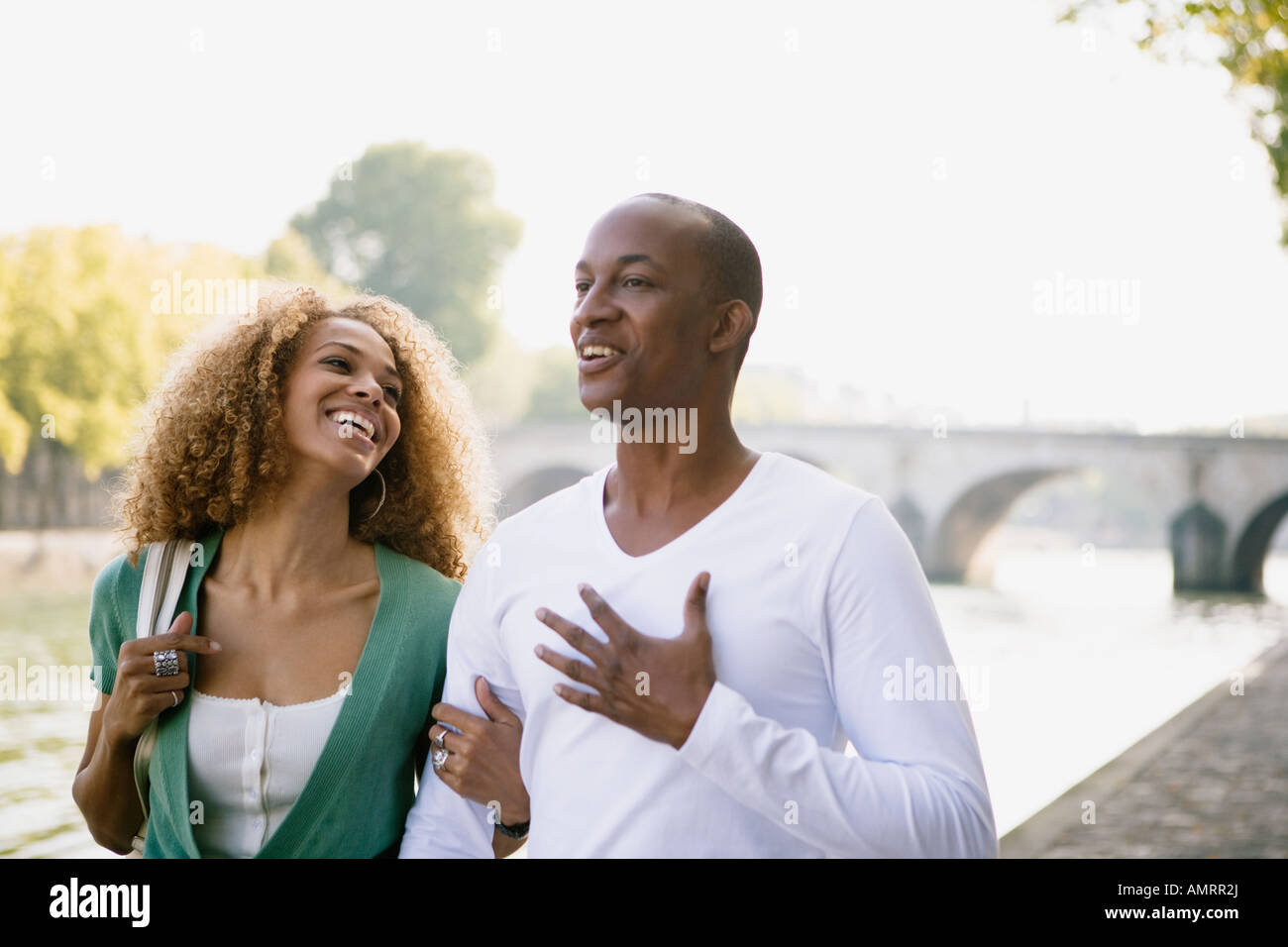African couple laughing - Stock Image