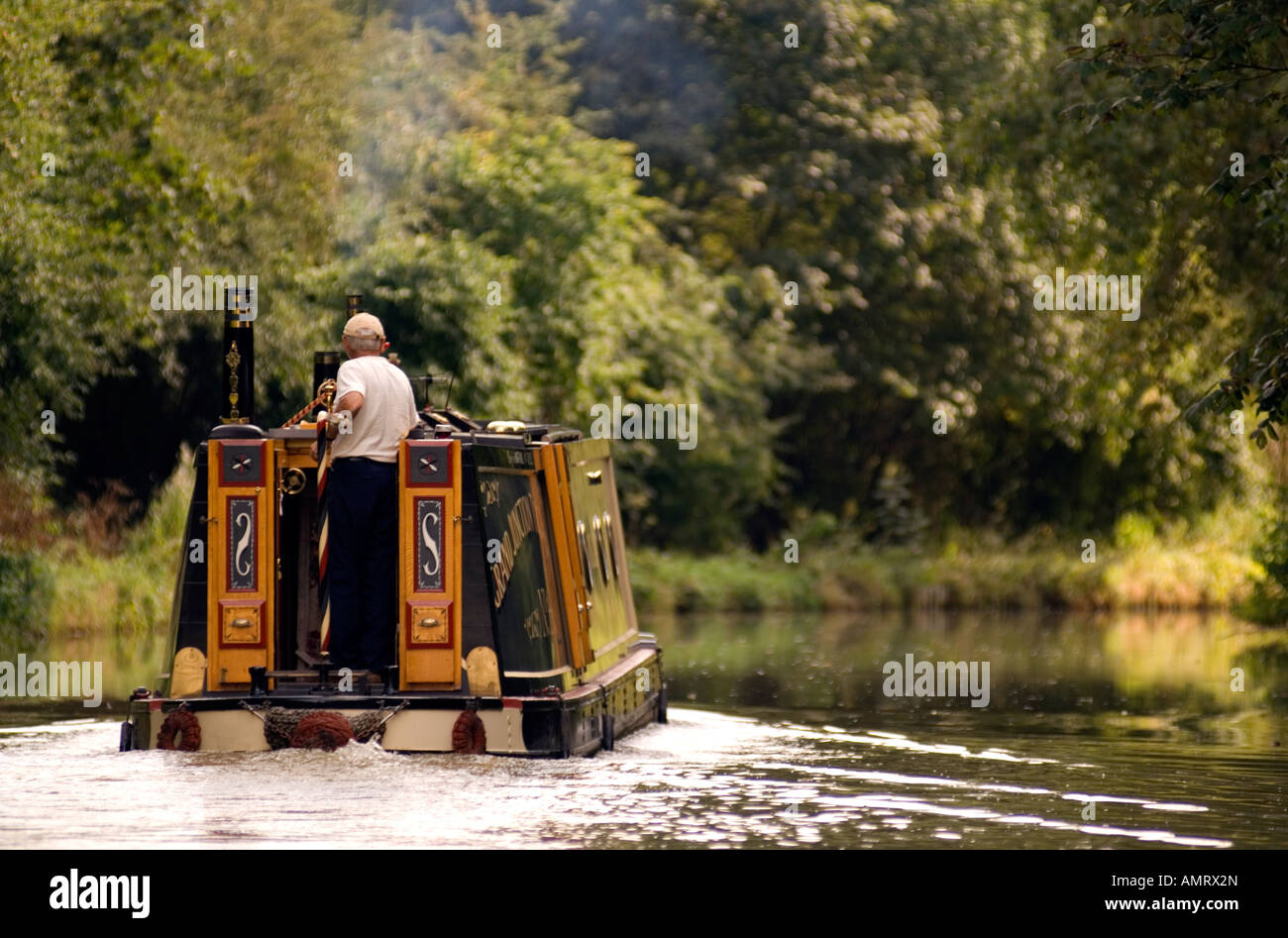 Doug Blane Narrowboat on the canal Stock Photo