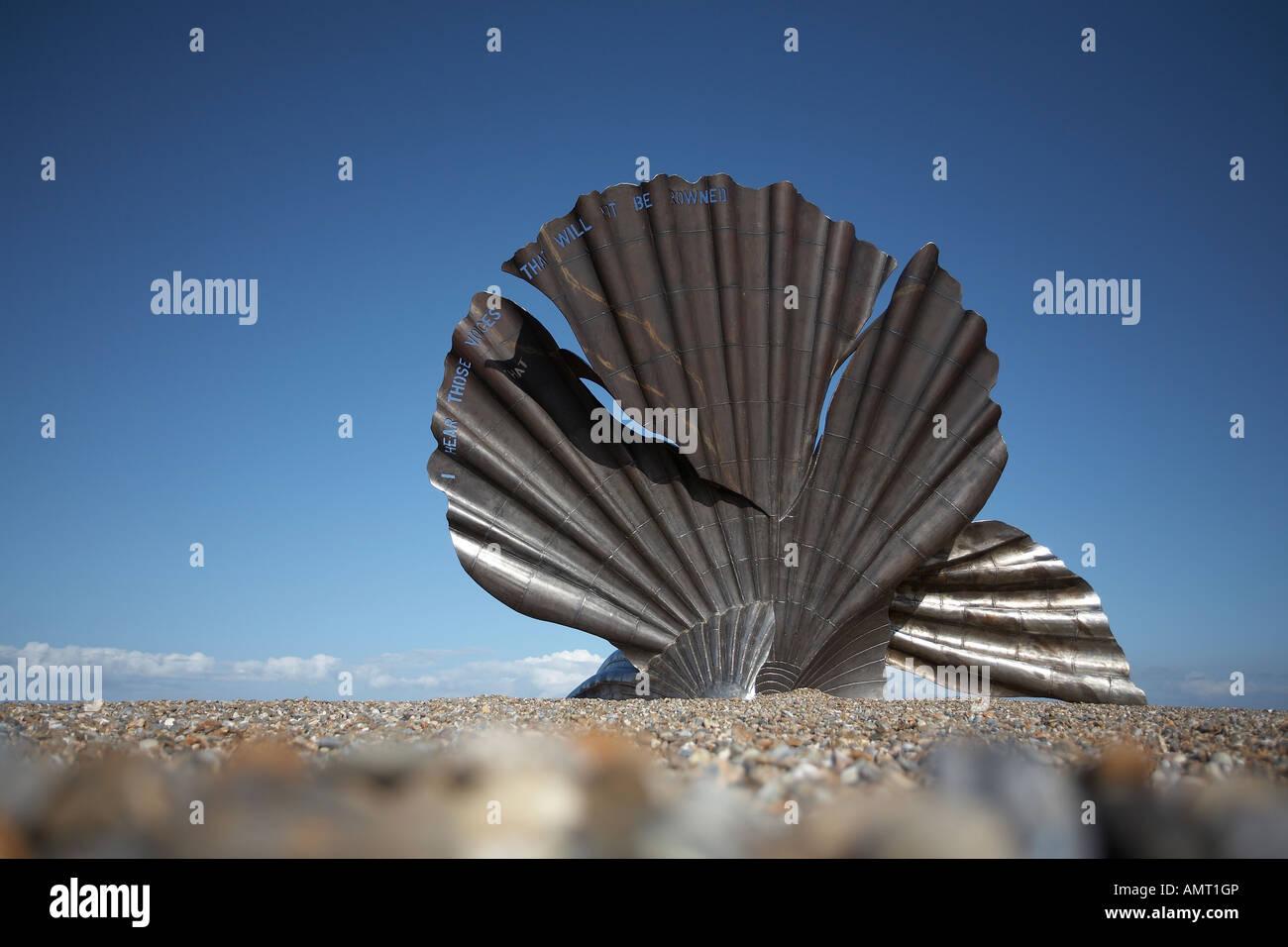 BENJAMIN BRITTEN MAGGI HAMBLING MEMORIAL,ALDEBURGH,SUFFOLK - Stock Image