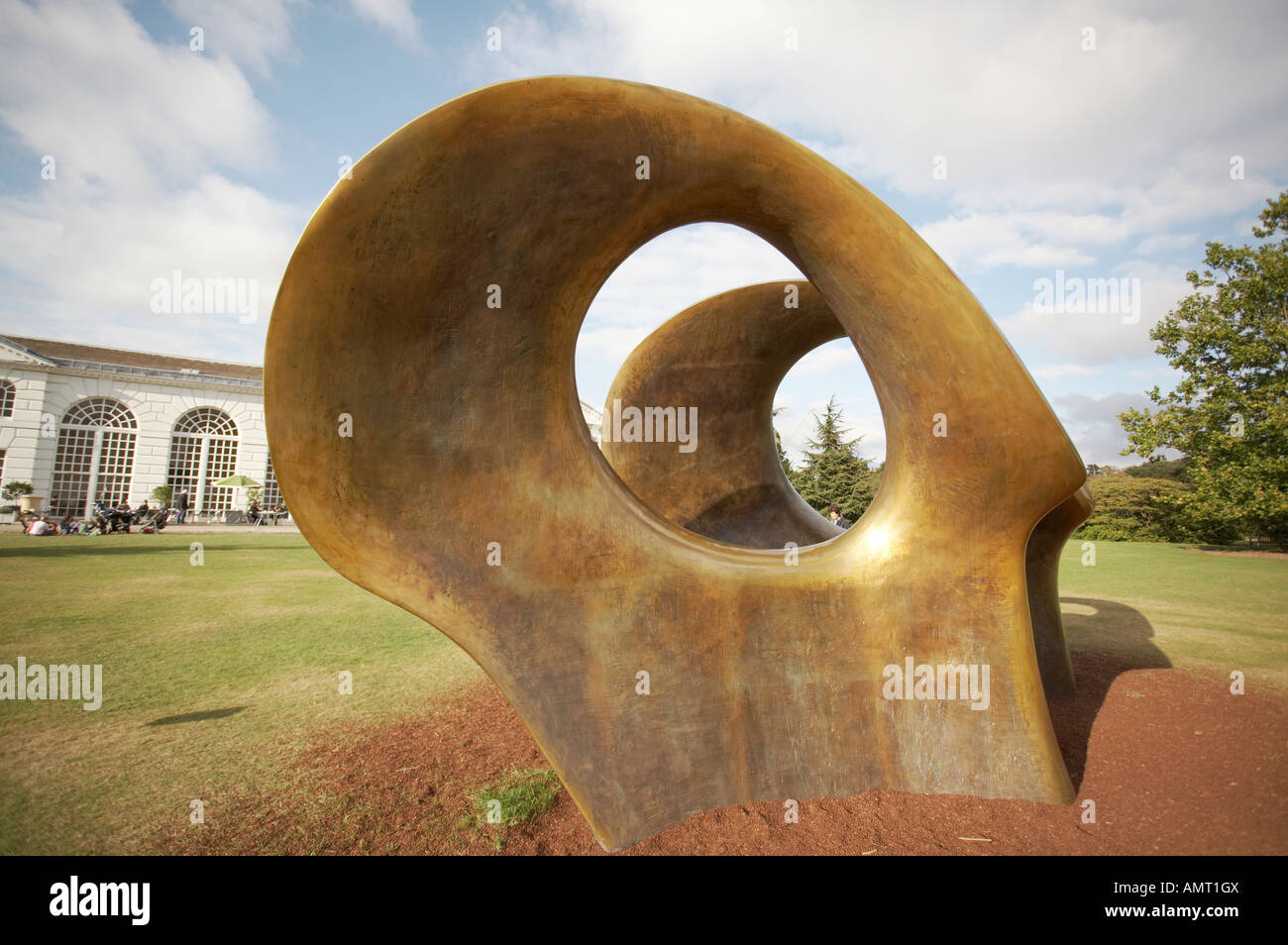Henry Moore sculpture Double Oval 1966 - Stock Image