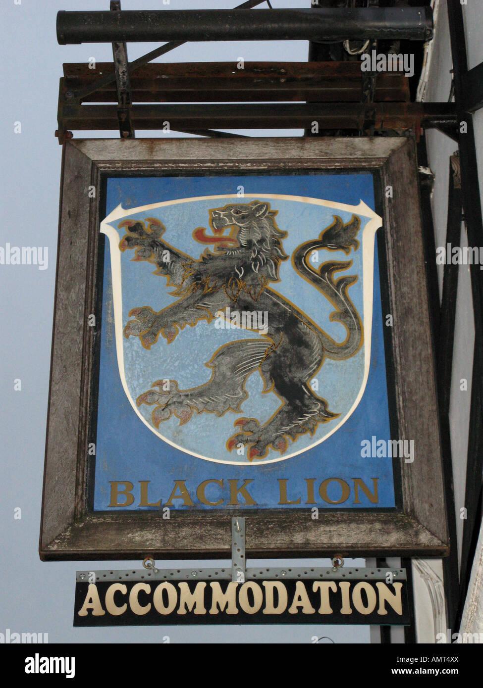 The Black Lion Public House - Stock Image