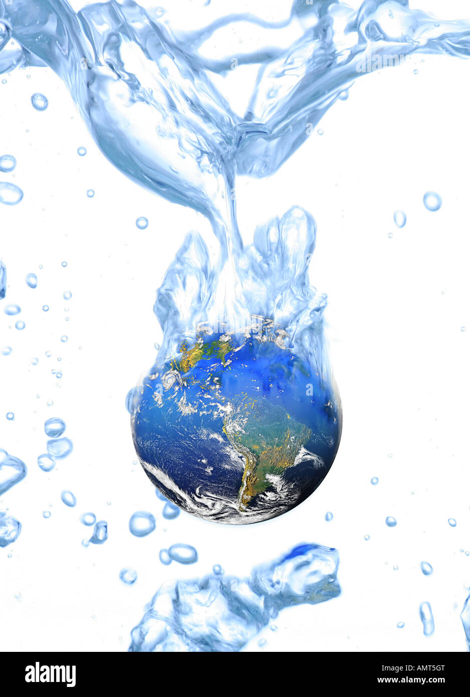 stop global warming cool the earth - Stock Image