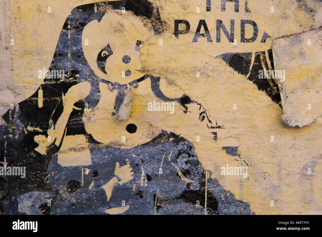 Abstract, Poster detail, woman, face - Stock Image