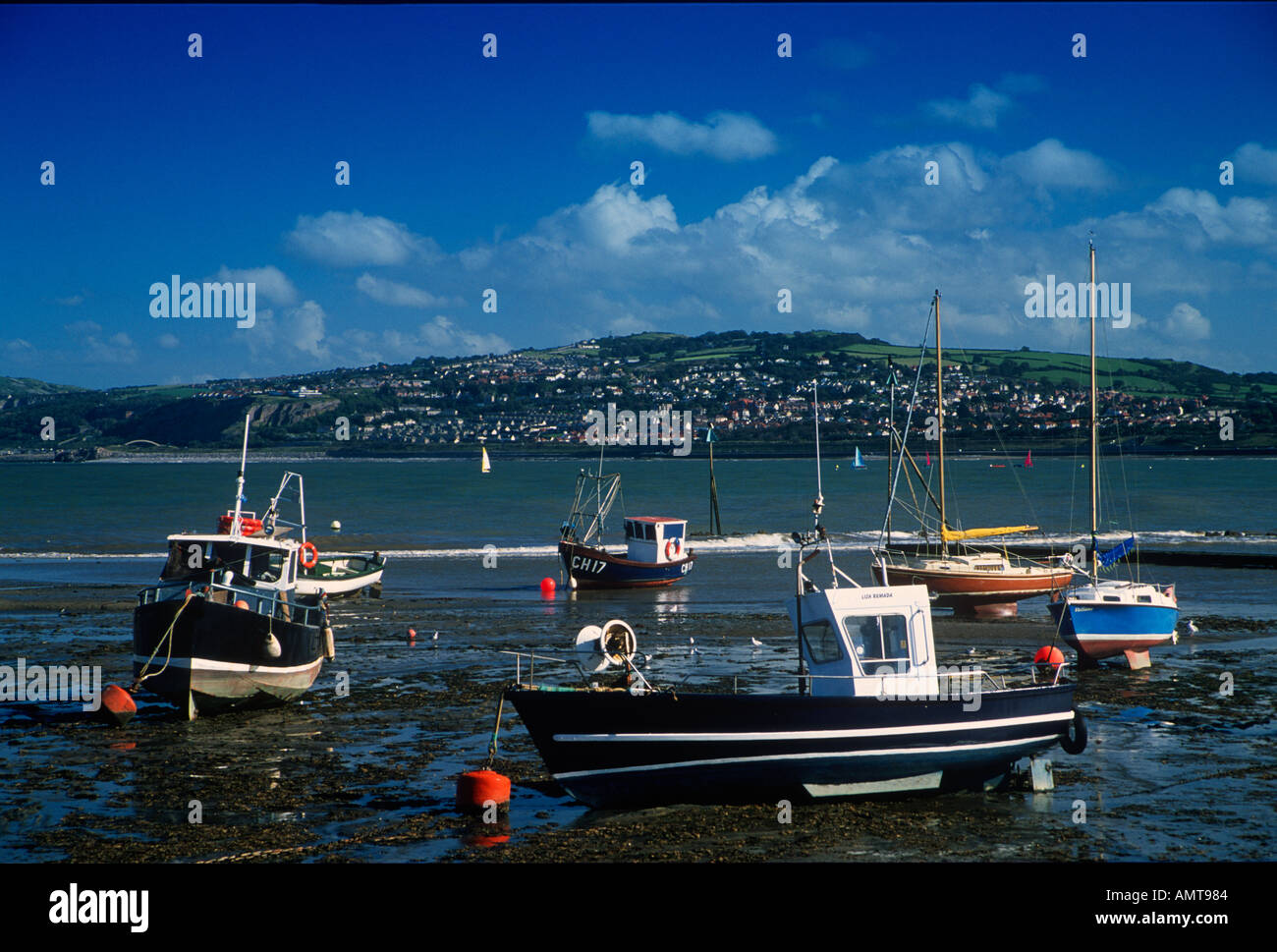 Colwyn Bay from Rhos on Sea Conwy North East Wales - Stock Image