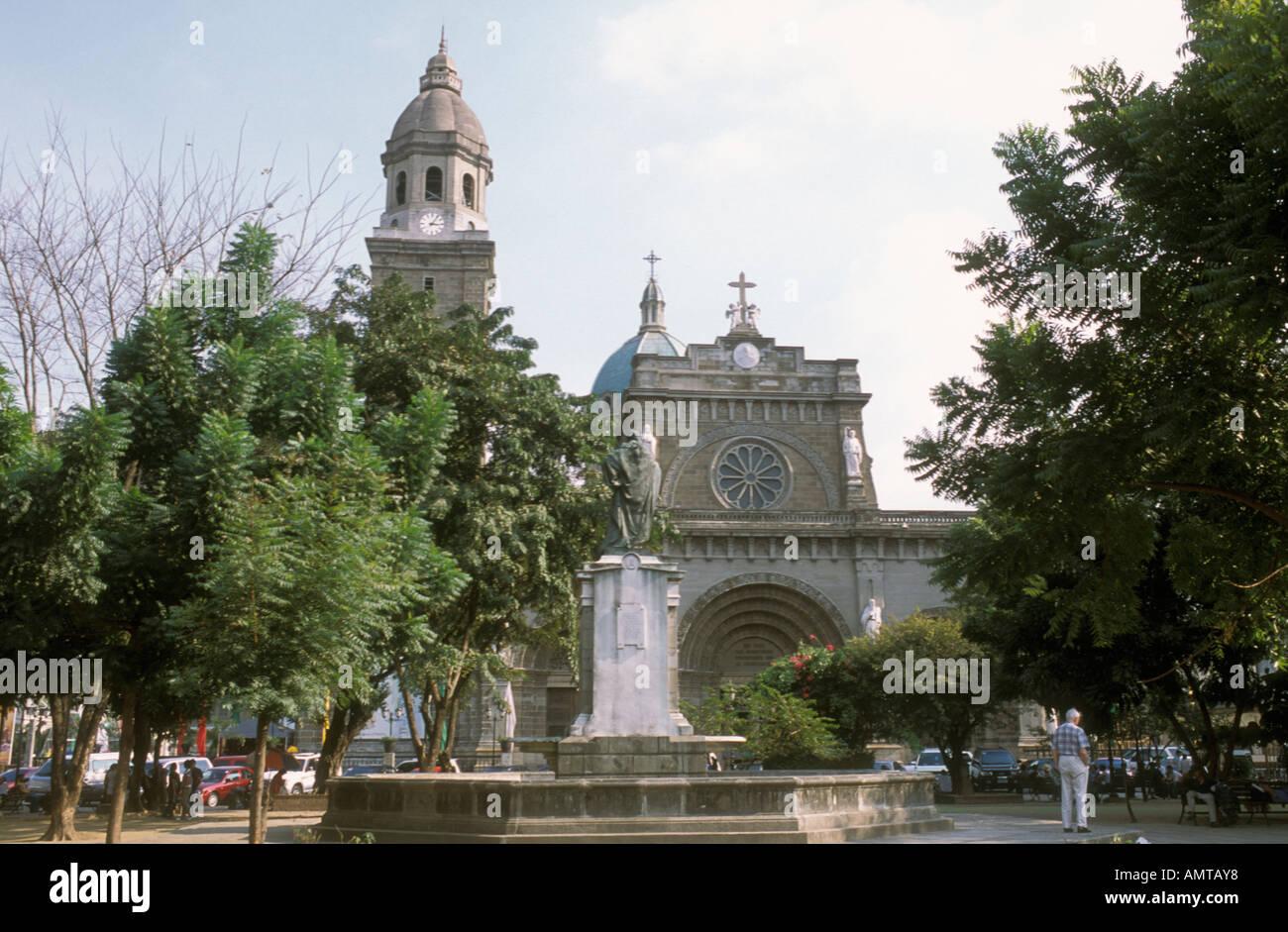 Philippines Roman Catholic Cathedral Of Manila Intramuros Stock Photo