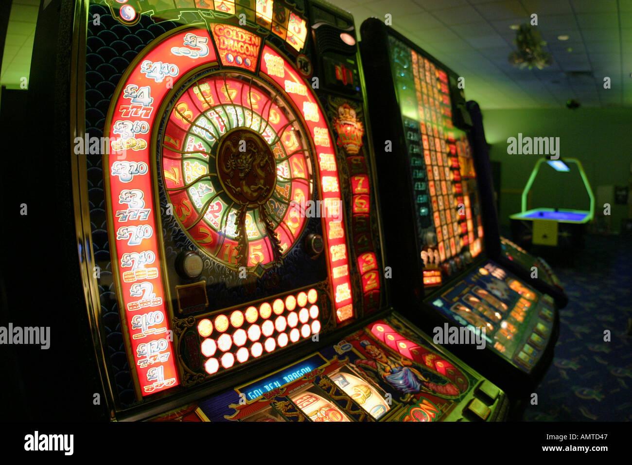 arcade games gambling - Stock Image