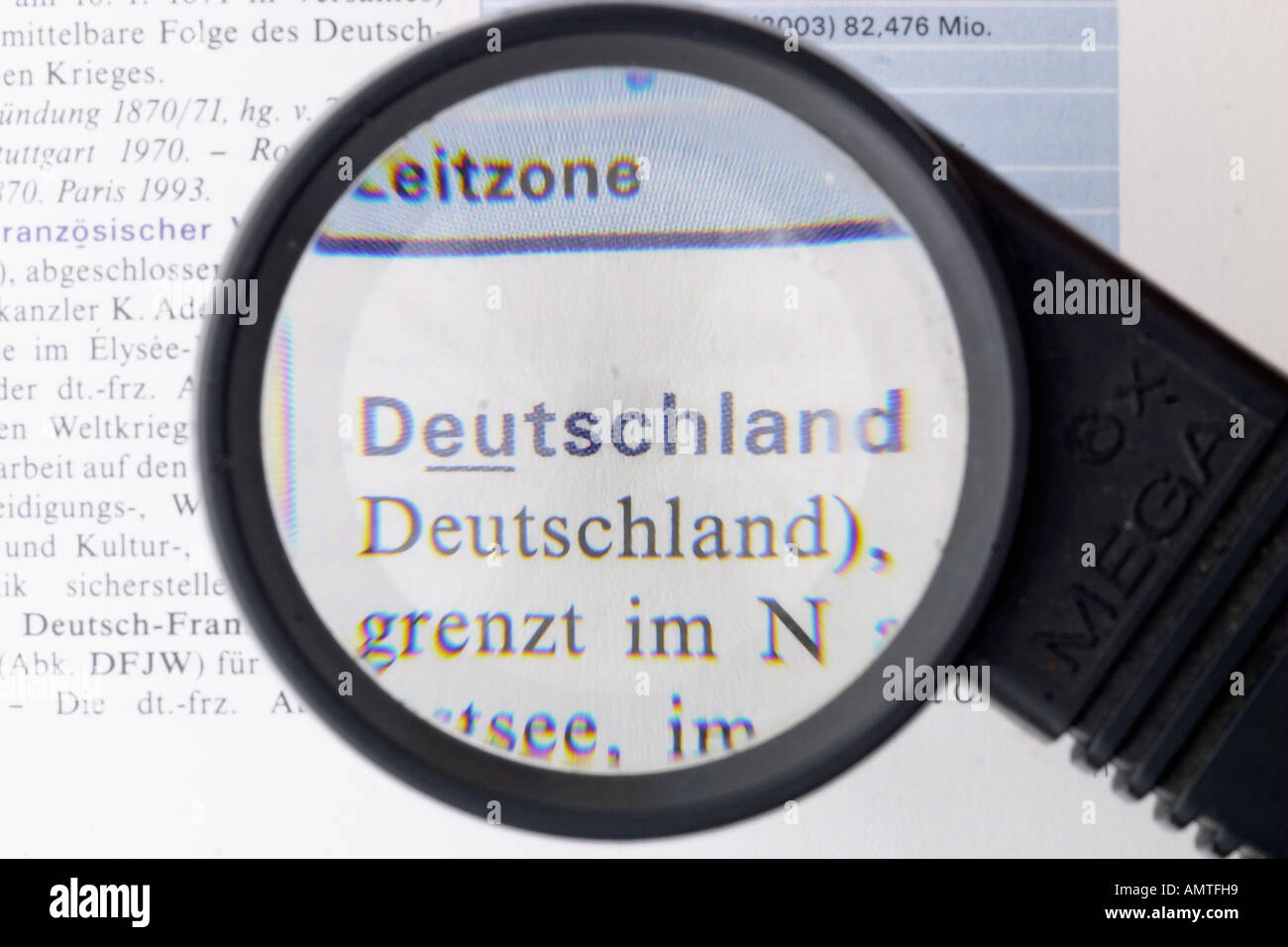 Germany, german word, magnifying glass Stock Photo: 8762200