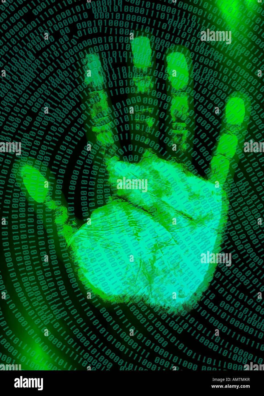 Digital Handprint Stock Photo 15335722 Alamy