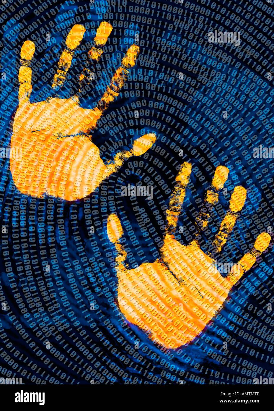 Digital Handprint Stock Photo 15335781 Alamy