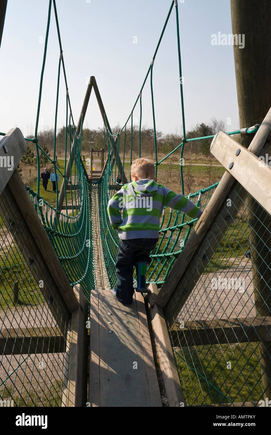The assault course, Conkers, Moira, Derbyshire - Stock Image