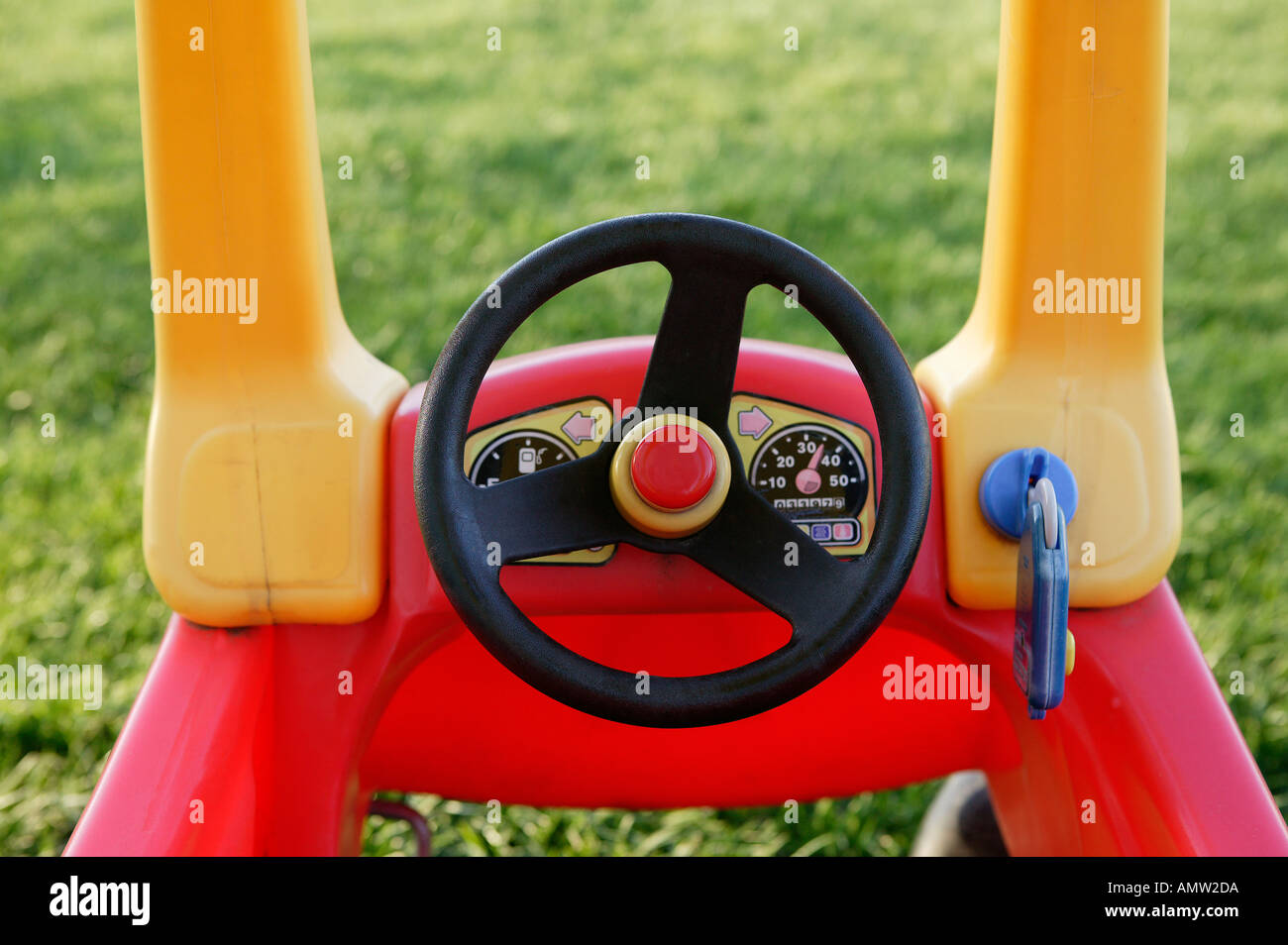 Red And Yellow Childs Toy Car Stock Photo 2855641 Alamy