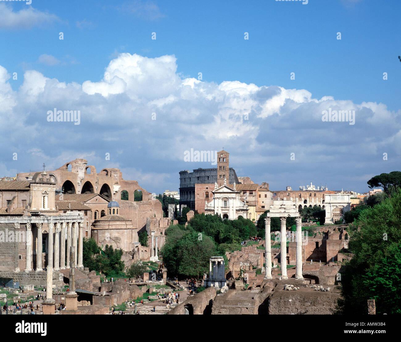 The Forum, Rome, Lazio, Italy - Stock Image