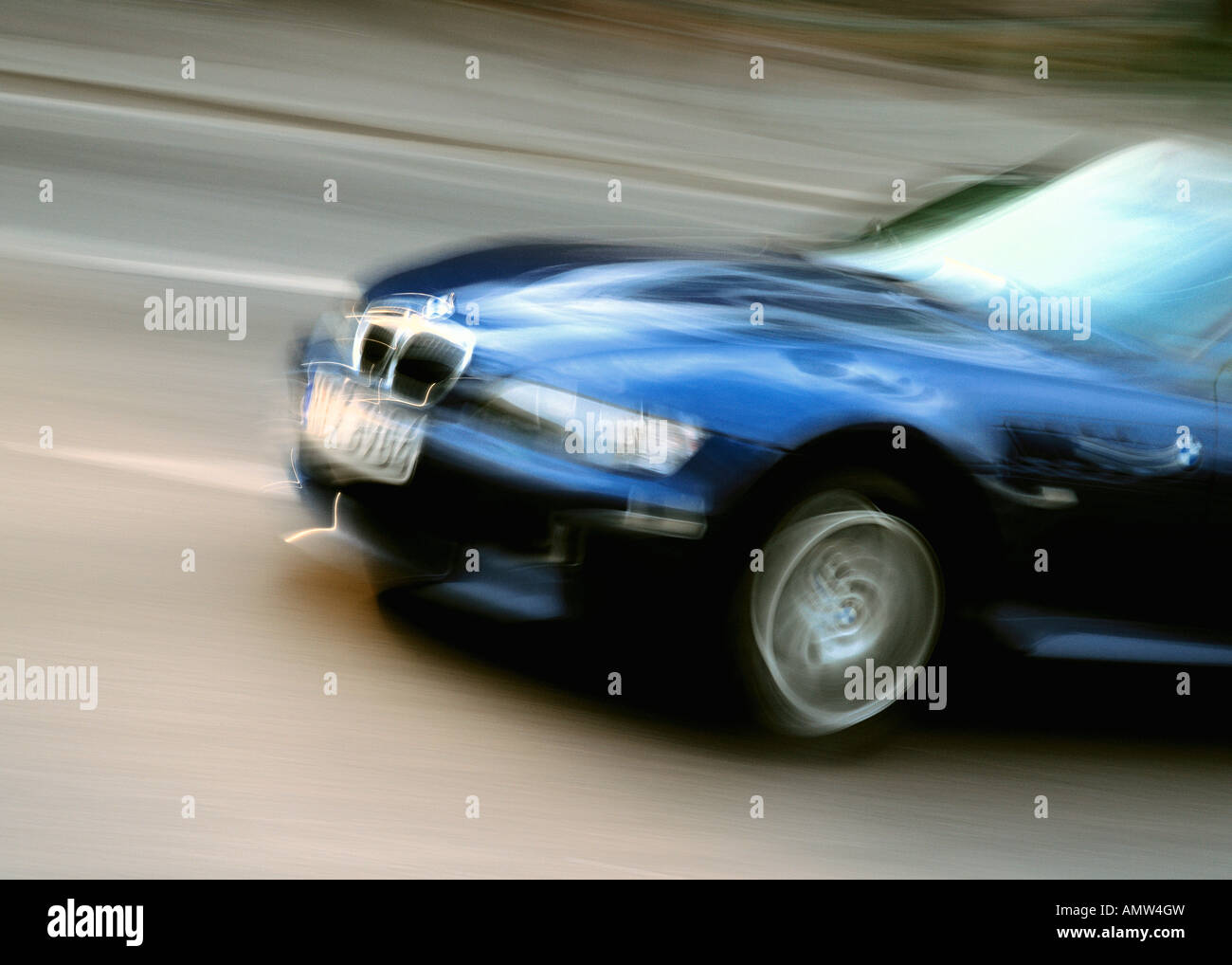 Driving BMW - Stock Image