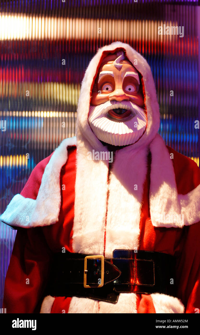 Robot Santa from the Dr Who TV series - Stock Image