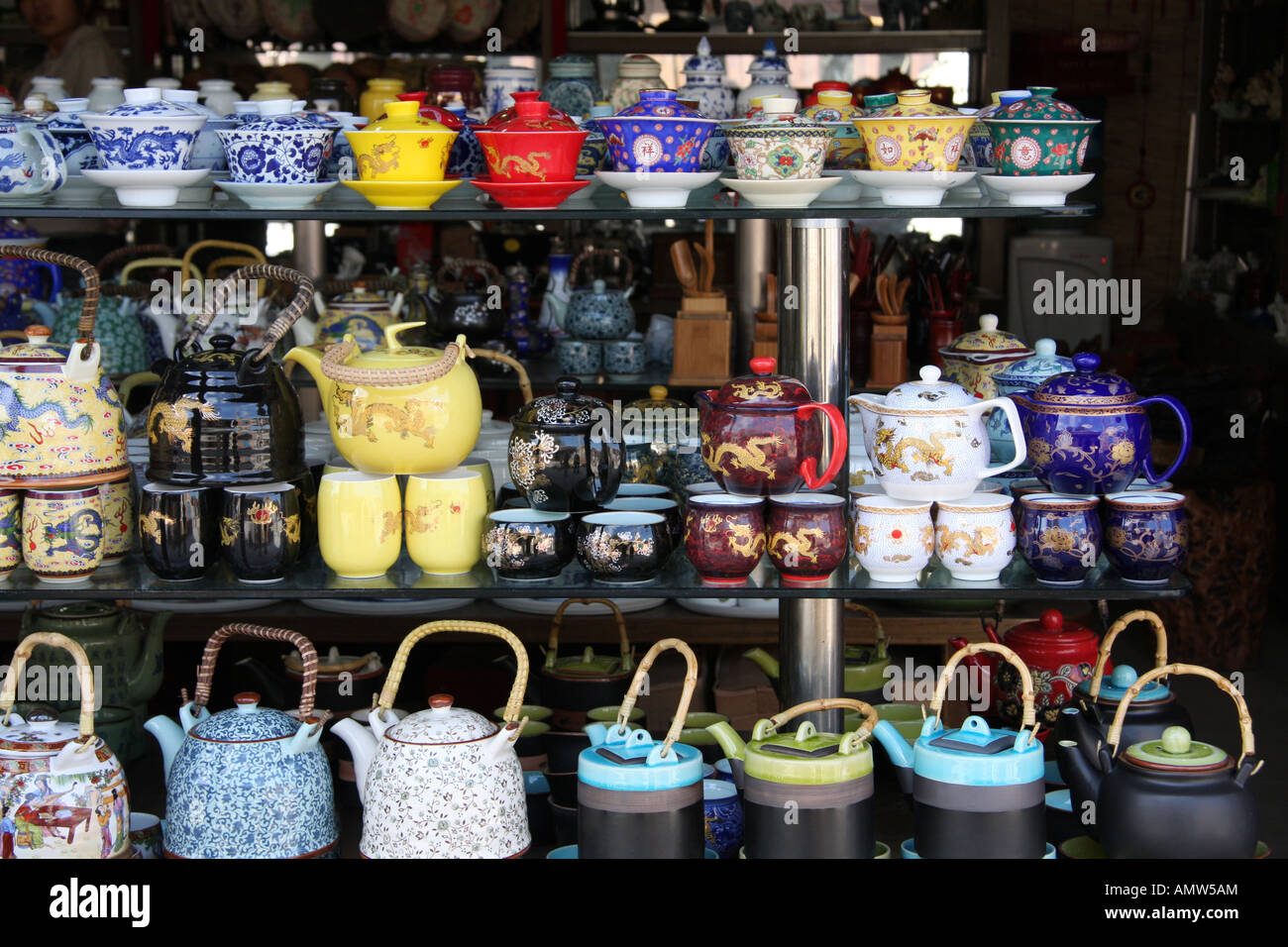 teapots in China - Stock Image