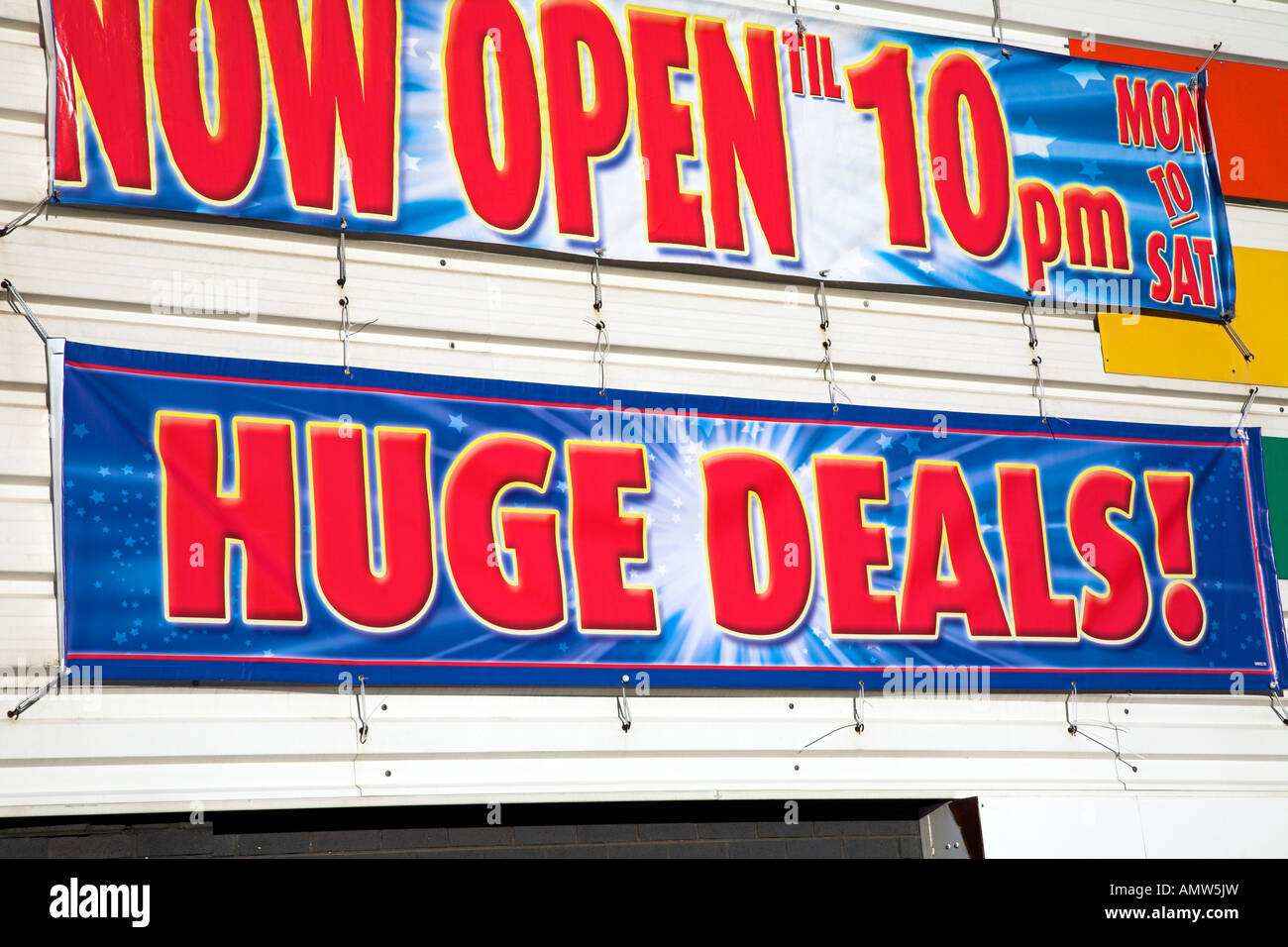 Sign advertising special bargain deals. - Stock Image