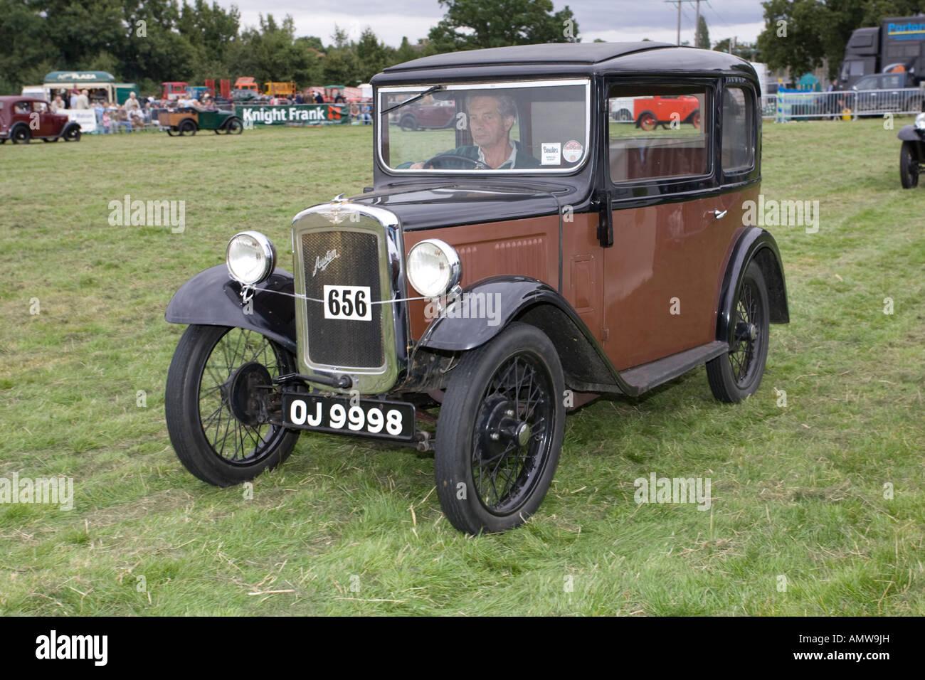 Vintage Austin 7 1930s saloon car Moreton Agricultural Show 2007 UK ...
