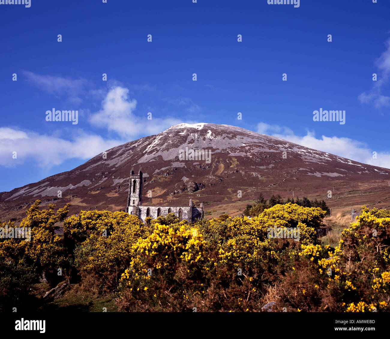 Dunlewy and Errigal Mountain, Donegal, Ireland - Stock Image