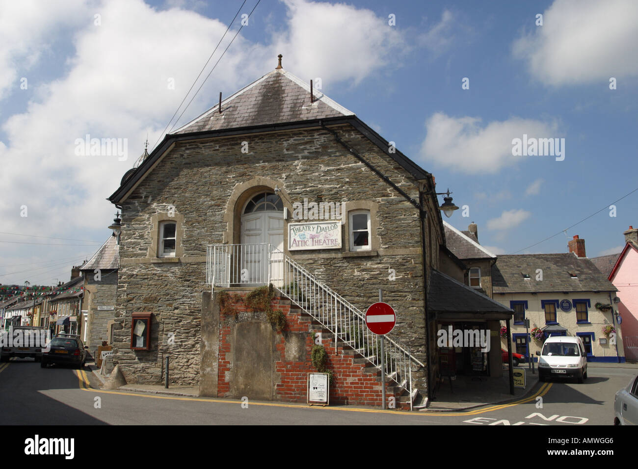 Newcastle Emlyn The Little Attic theatre Carmathanshire Wales - Stock Image