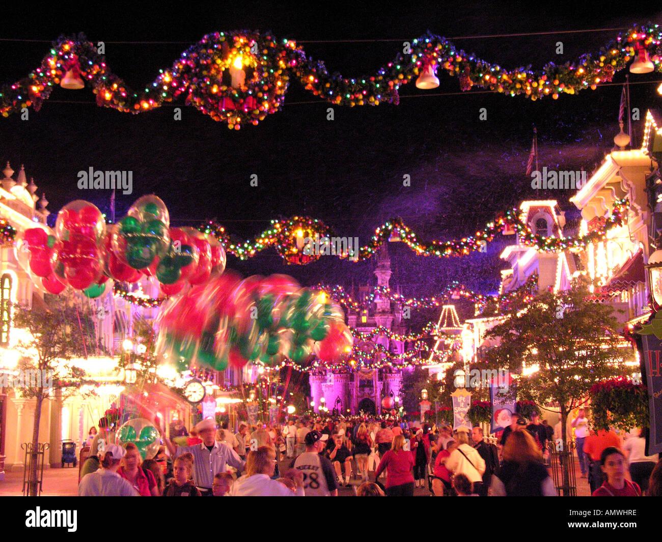 Christmas Xmas Walt Disney World Orlando Florida Stock Photo