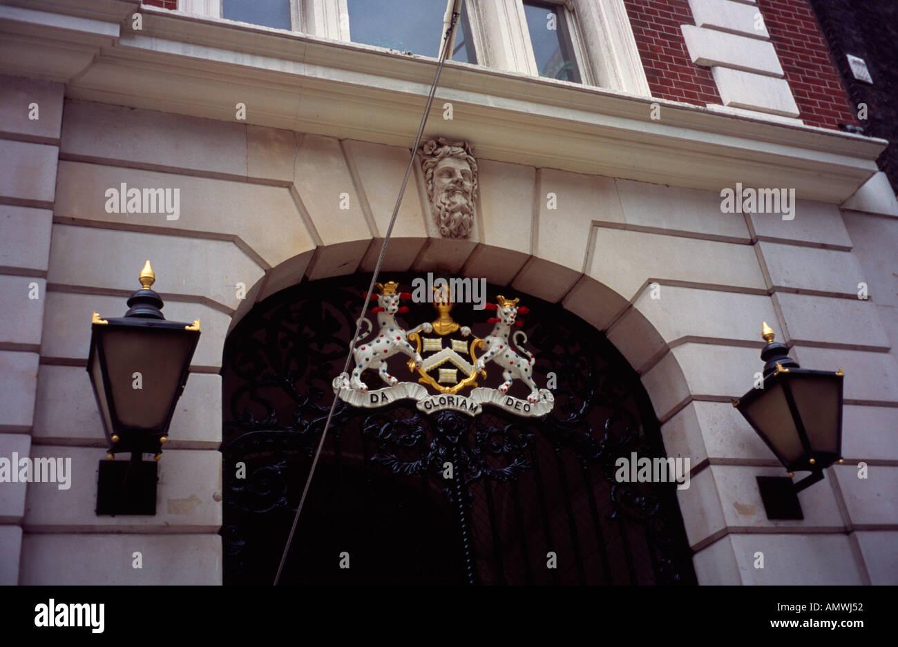 Dyers Hall, 10 Dowgate Hill, London, England EC4 - Stock Image