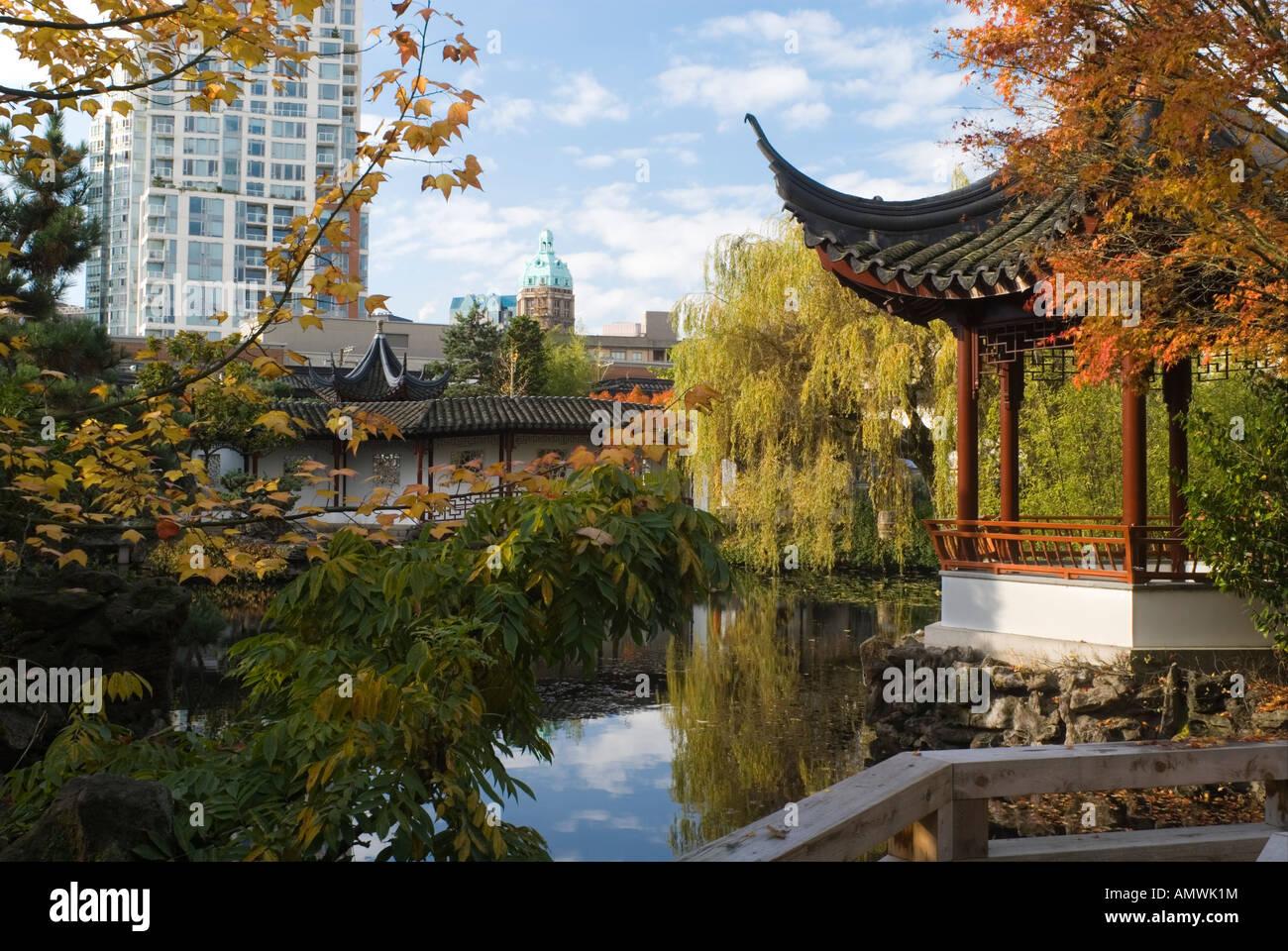 Dr Sun Yat Sen Classical Chinese Garden in Autumn Vancouver British ...