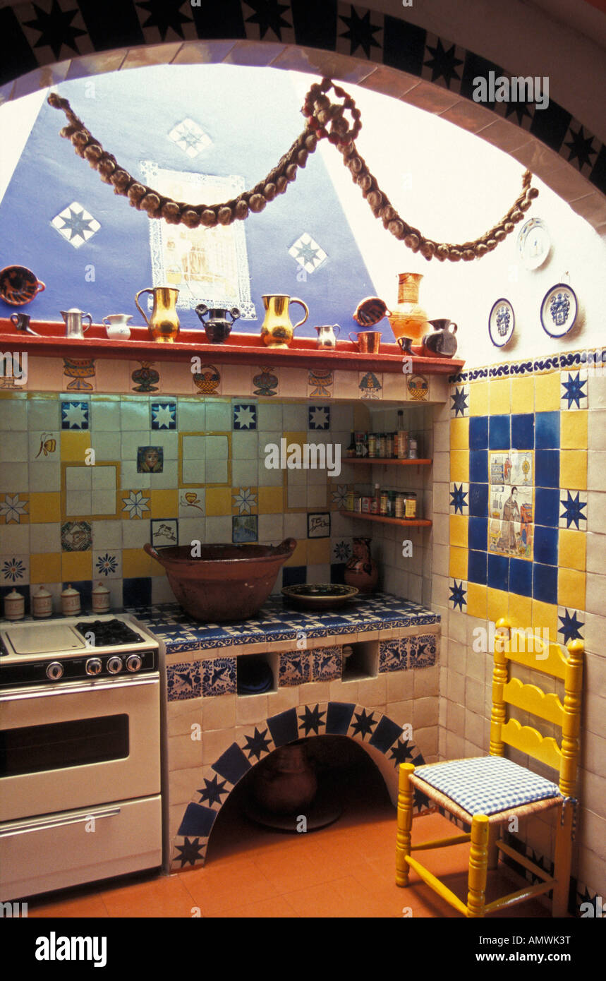 Mexican style kitchen in the the Robert Brady House Museum ...