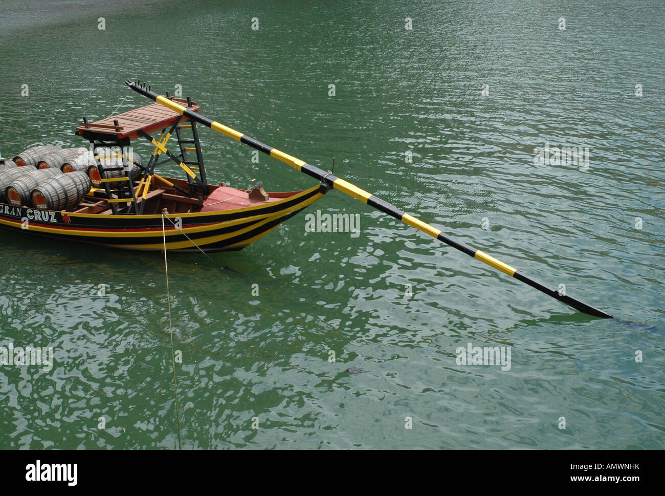 Traditional Wooden Boat With Long Steering Oar Once Used To Carry