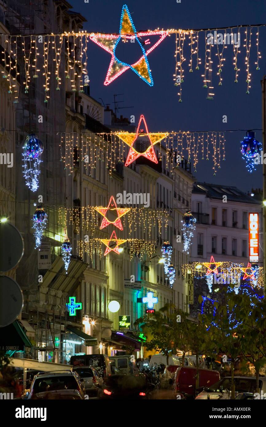 Christmas Lights In Paris.Paris Christmas Lights Stock Photos Paris Christmas Lights