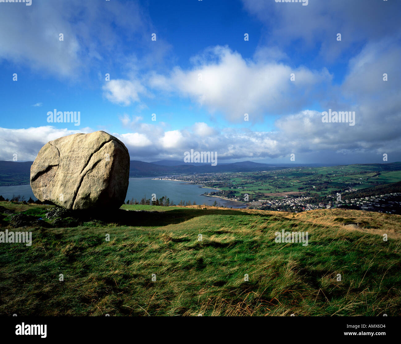 Cloughmore Stone, Rostrevor, County Down, Northern Ireland - Stock Image
