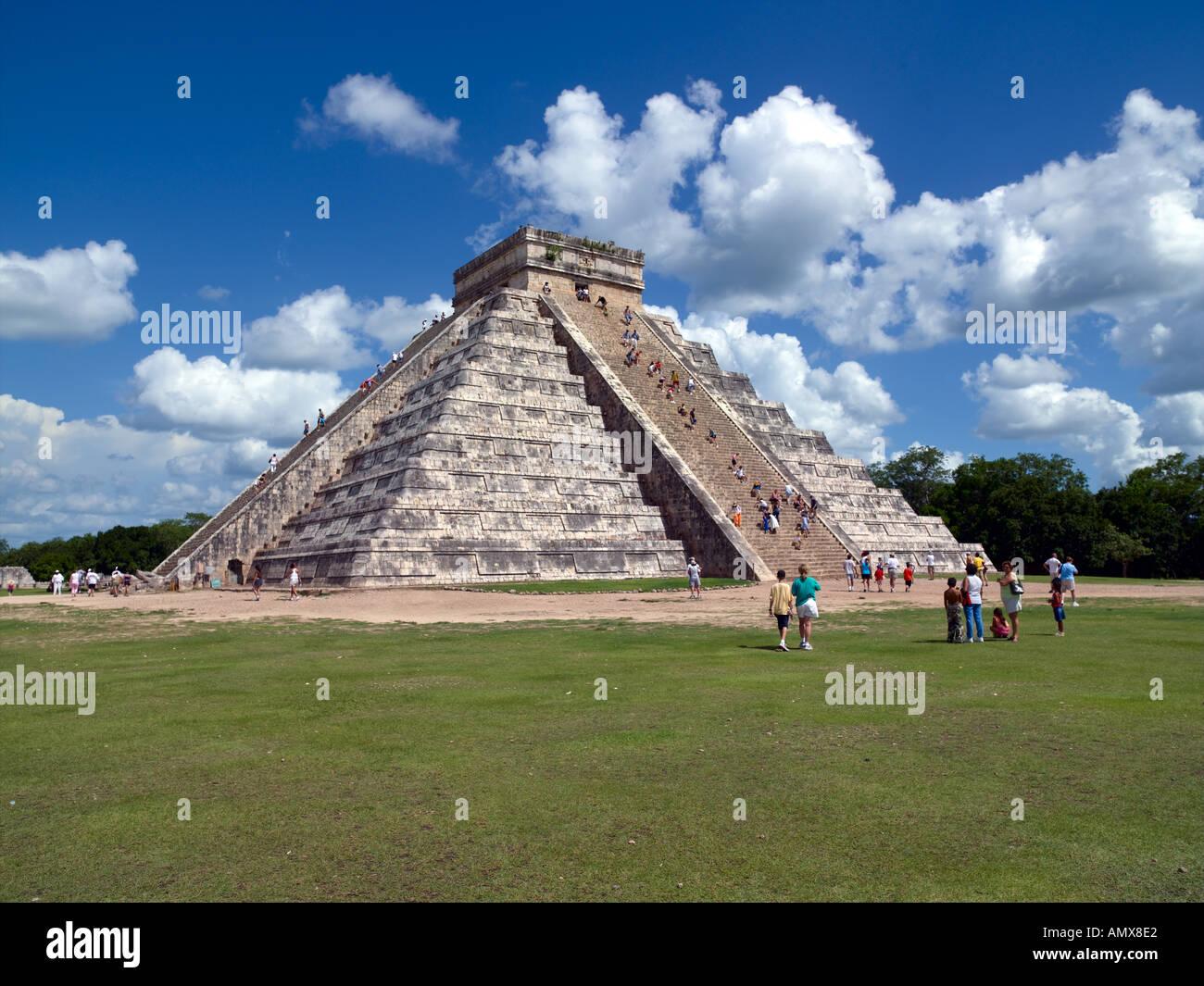 Chichen Itza, El Castillo - Stock Image