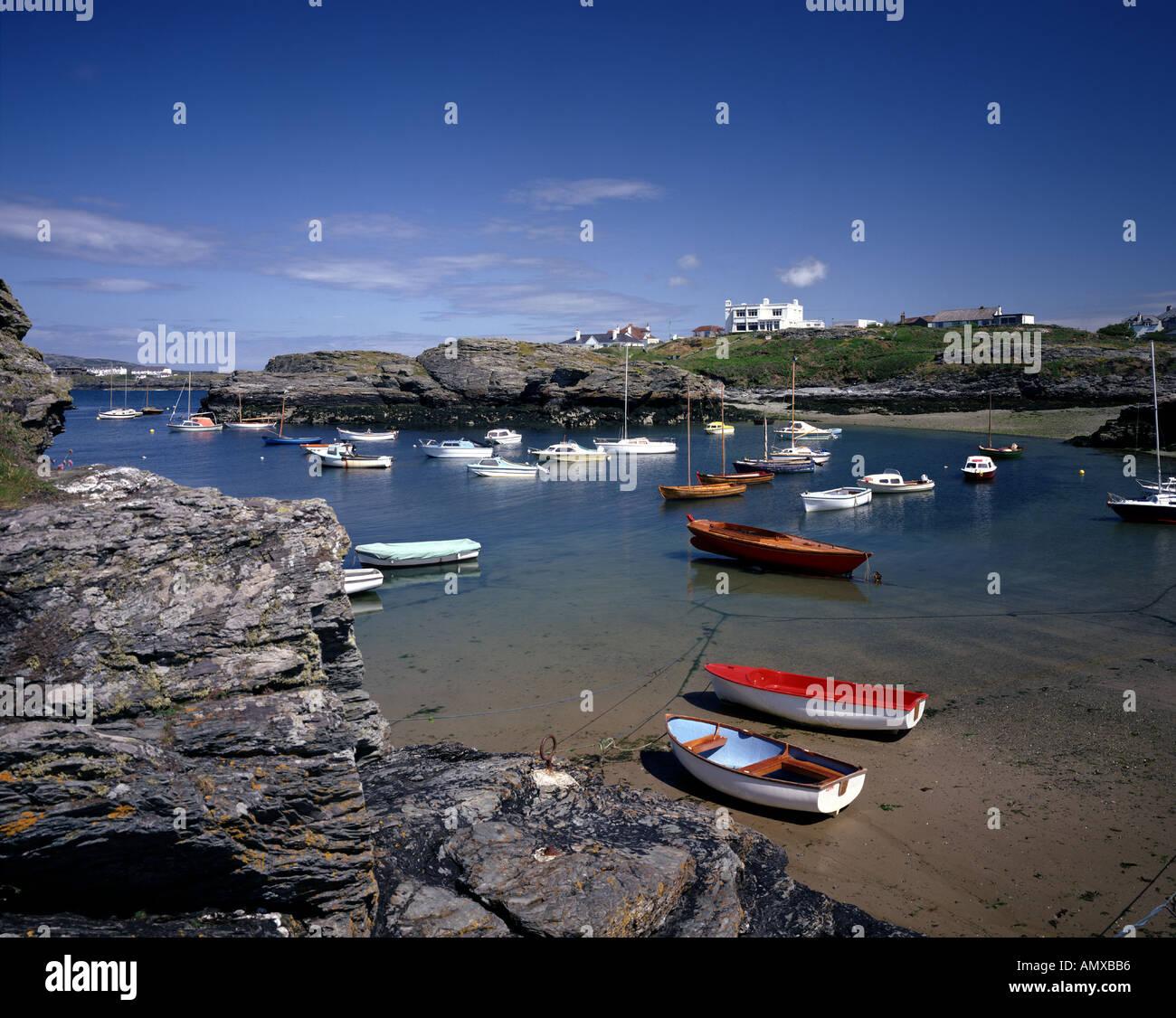 GB - WALES: Trearddur Bay on Anglesey - Stock Image