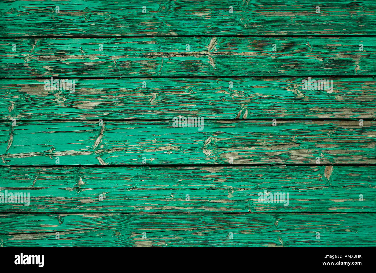 Green wooden wall  - Stock Image