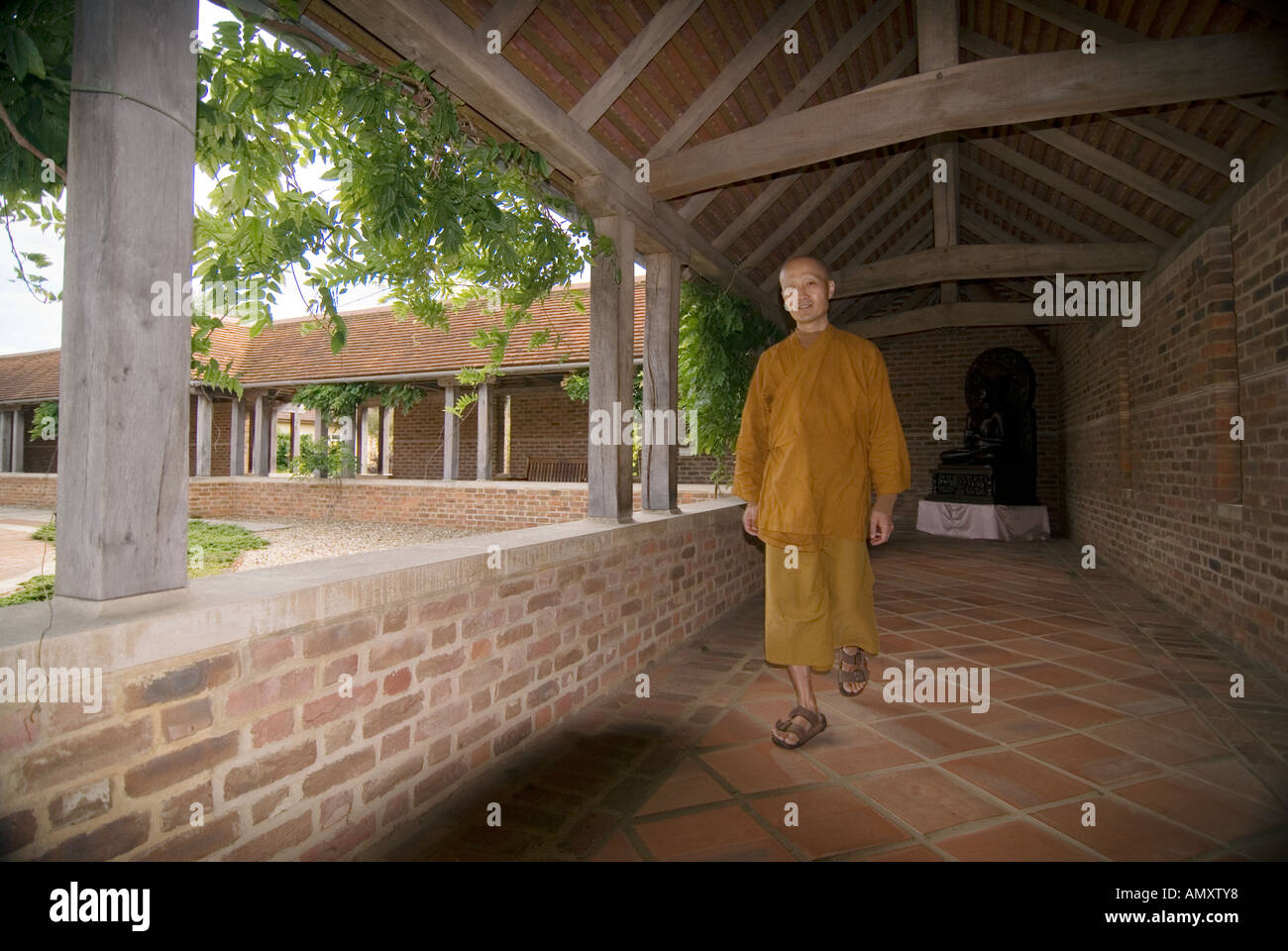 PICTURE CREDIT DOUG BLANE Amaravati Buddhist Monastery England Great Britain Stock Photo