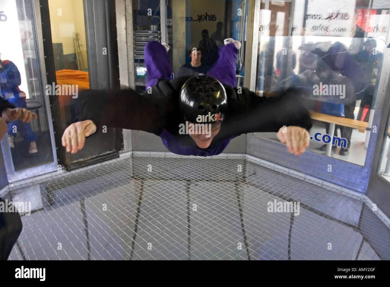 Airkix Indoor skydiving xscape milton keynes - Stock Image