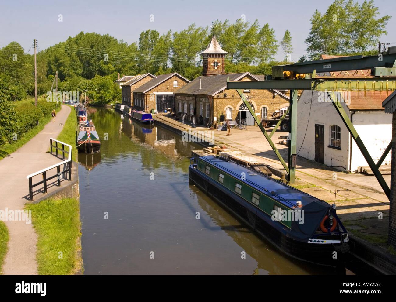 Former British Waterways Yard - Bulbourne - Tring - Hertfordshire - Stock Image