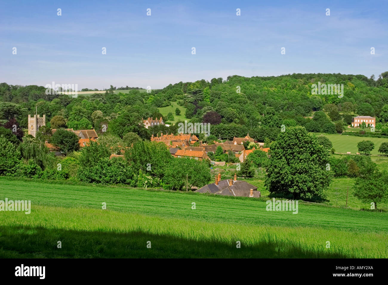 Hambleden Village Thames Valley Buckinghamshire - Stock Image