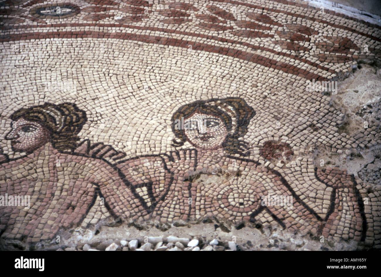 Roman mosaic floor at Egnazia Puglia Italy - Stock Image