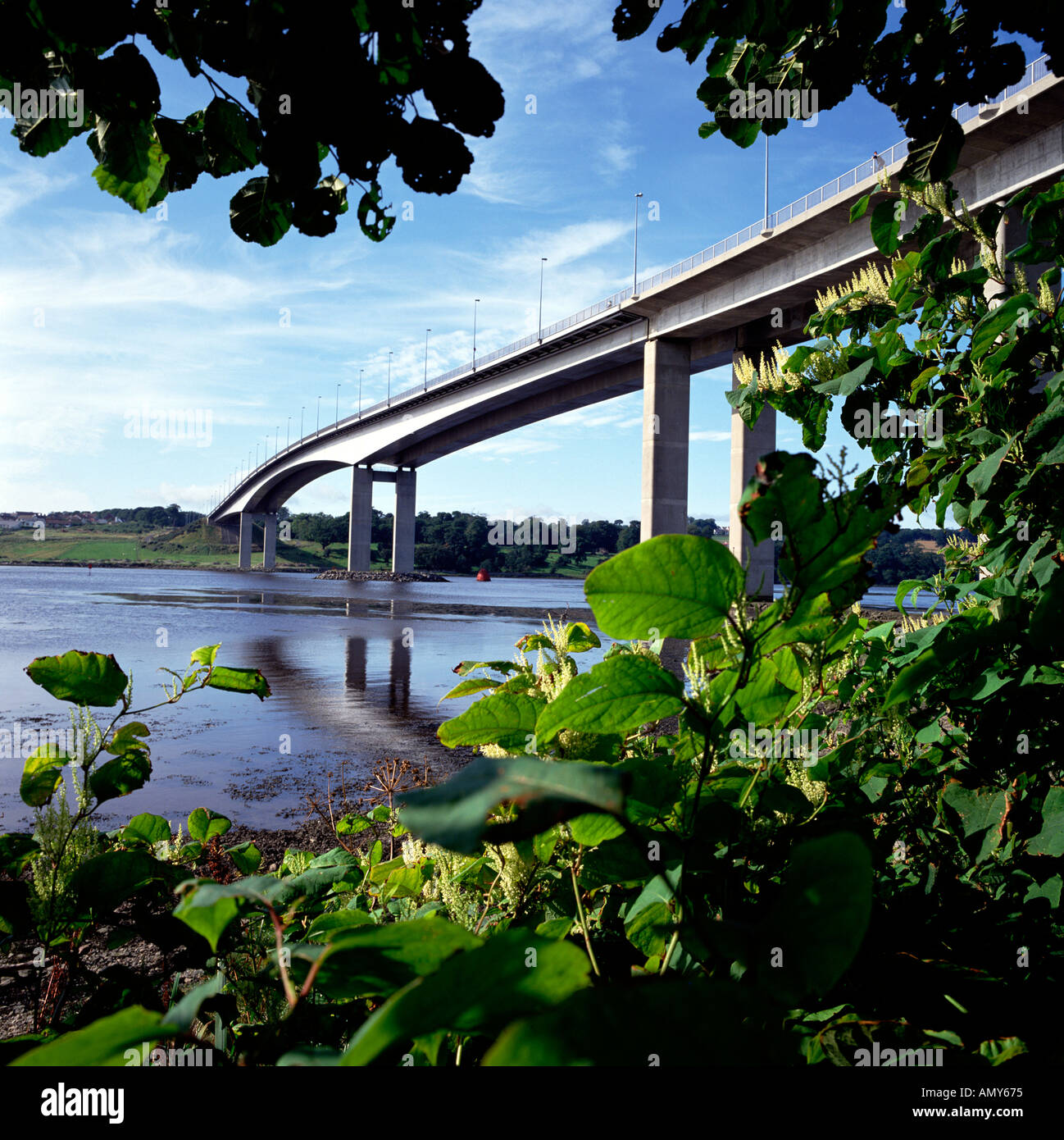Foyle Bridge Co Londonderry Northern Ireland - Stock Image