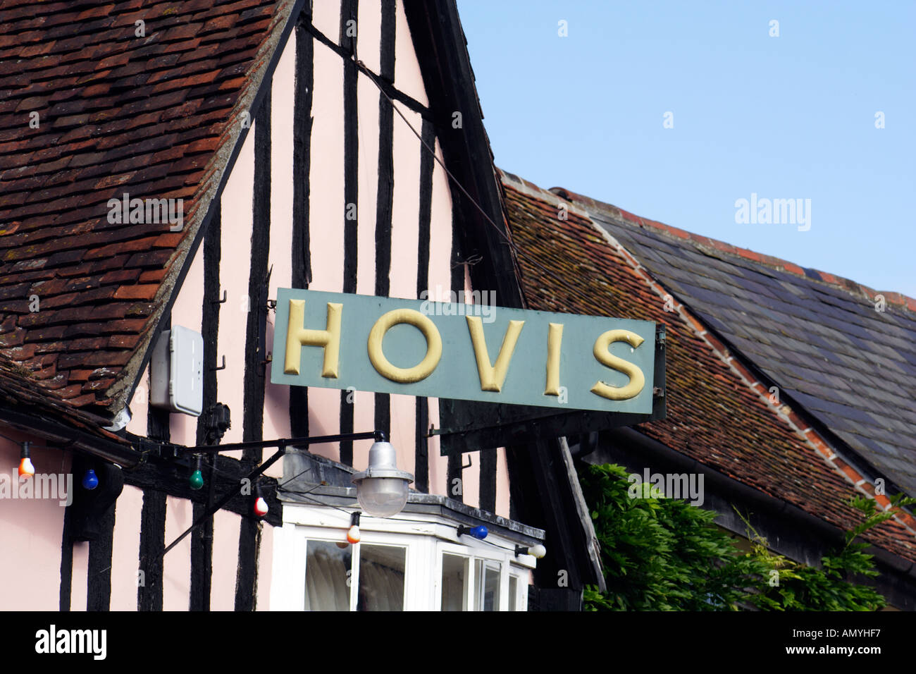 Picturesque idyllic and typically English architecture found in Lavenham Suffolk East Anglia UK - Stock Image