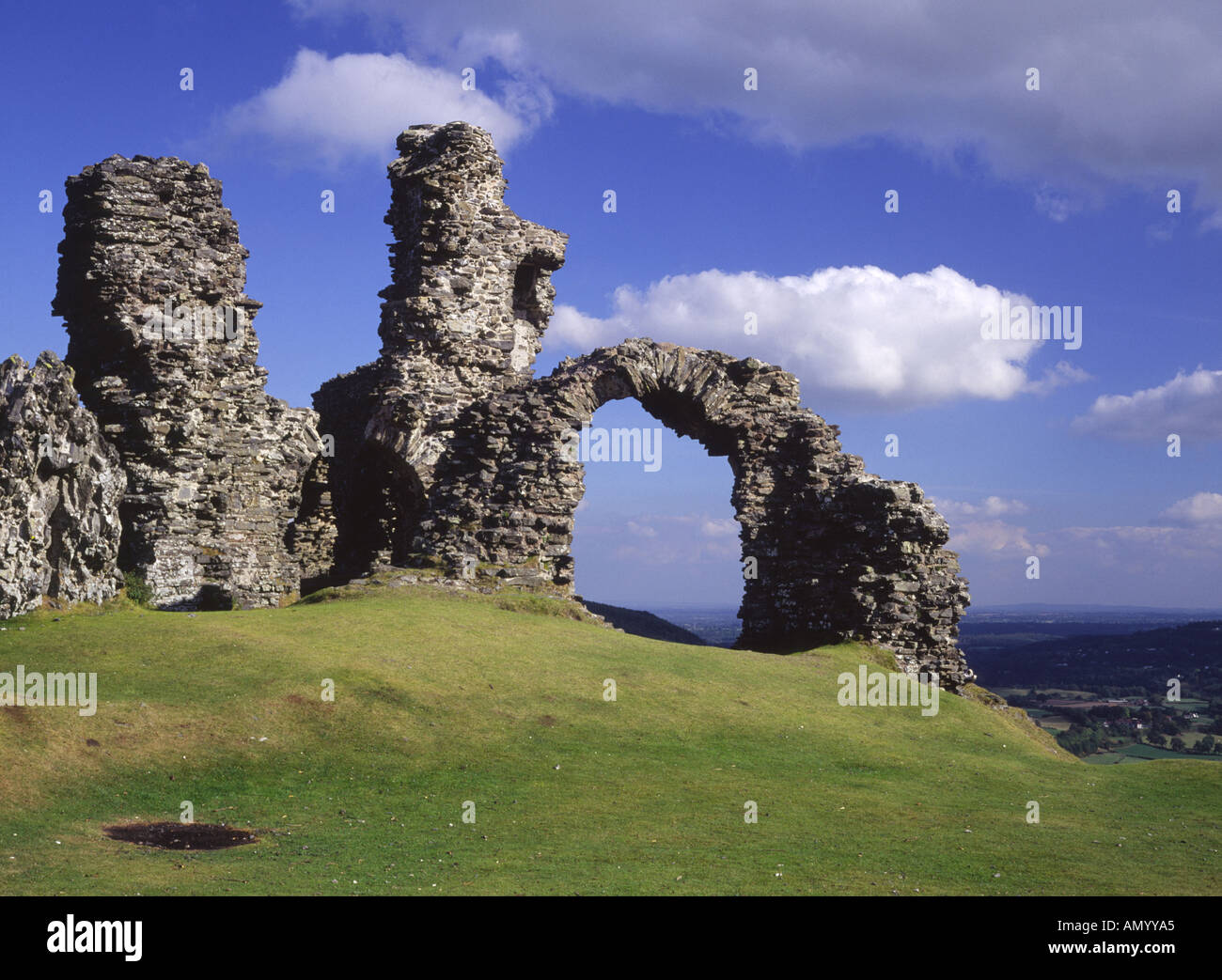Part of Castell Dinas Bran Llangollen Clwyd Wales - Stock Image
