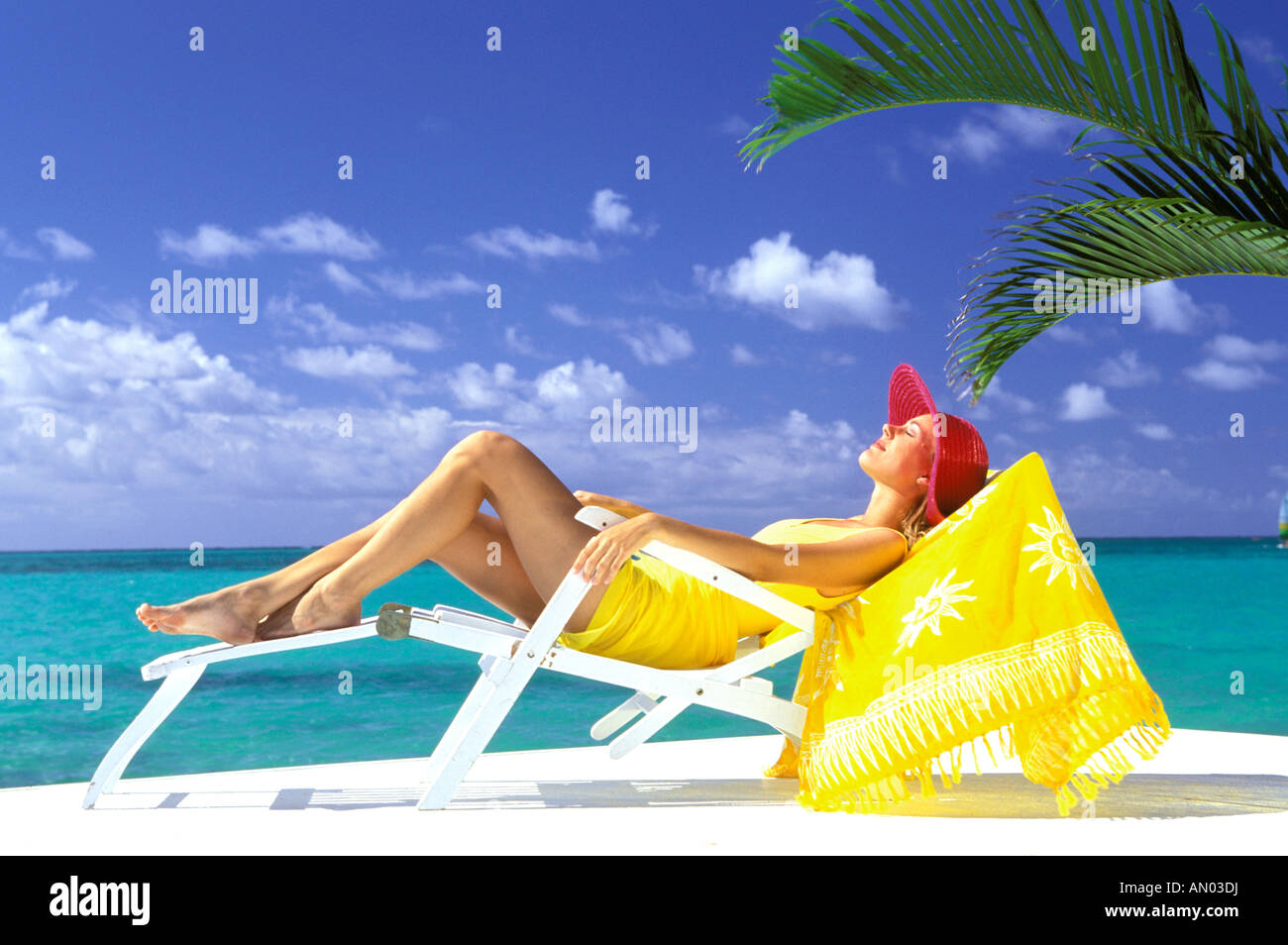 Fine Usa Hawaiian Islands Woman Lounging In Beach Chair Ocoug Best Dining Table And Chair Ideas Images Ocougorg