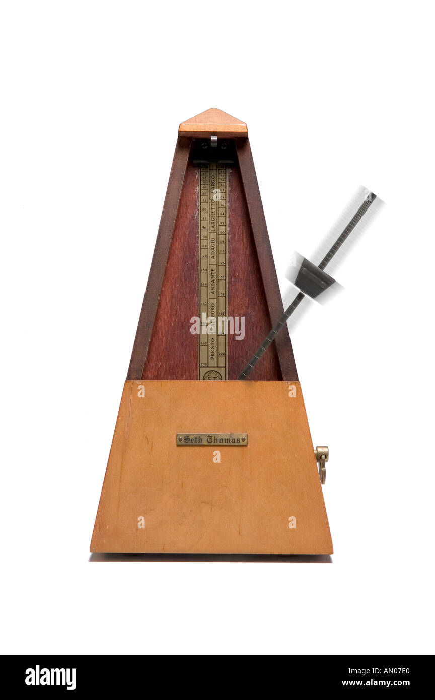 Metronome with Blur - Stock Image