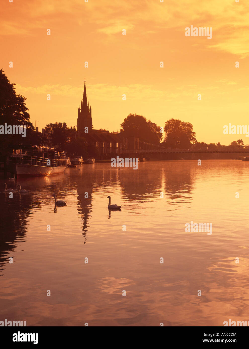 marlow, river thames, england Stock Photo