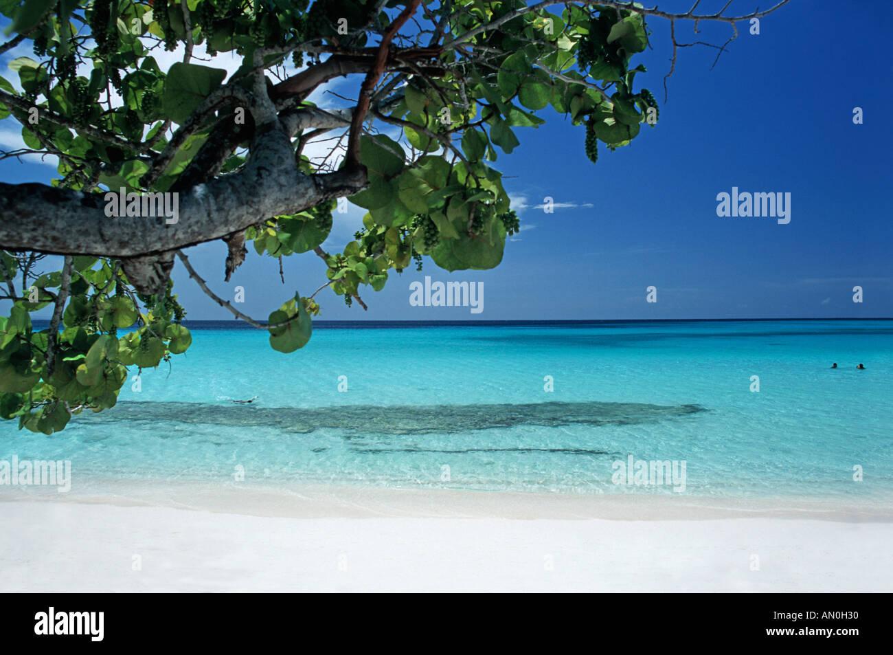 The beautiful tropical beach at Playa Pesquero near Guadarlavaca Holguin province Cuba - Stock Image
